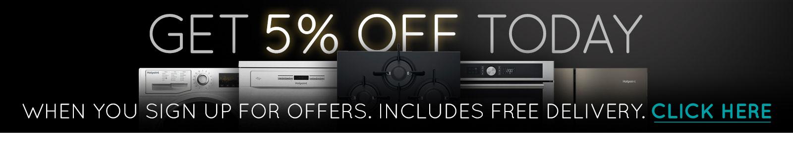 Receive a 5% discount code